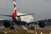 G-VIIU - British Airways Boeing 777-200 aircraft