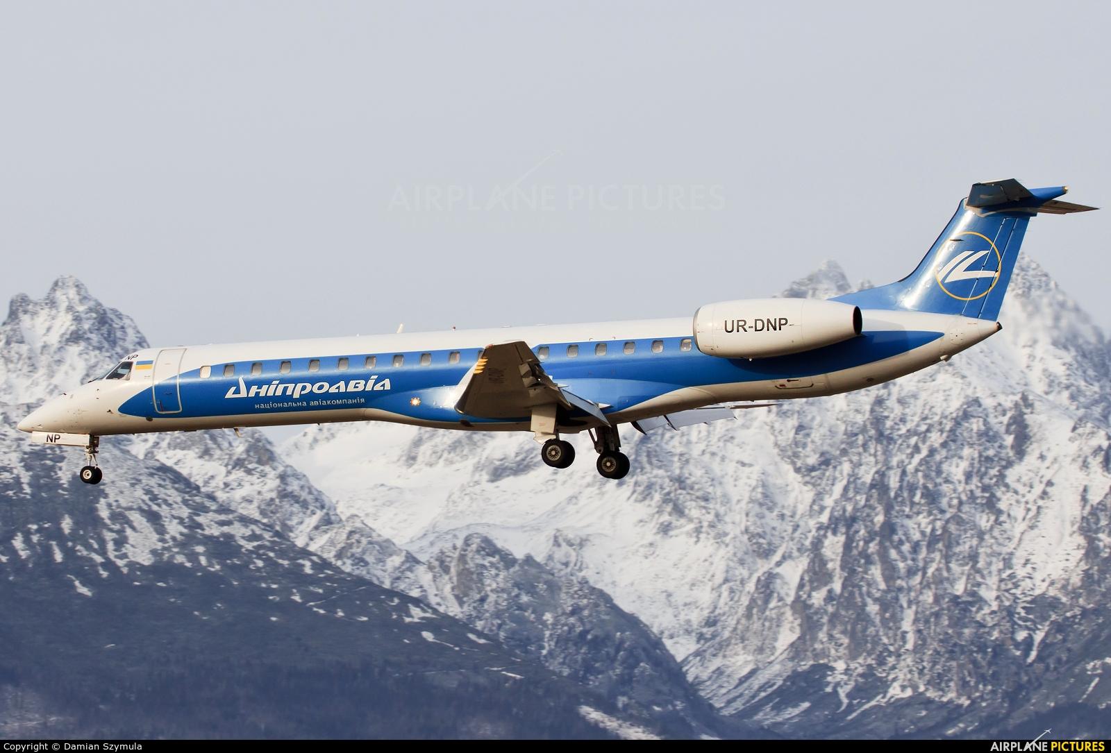 Dniproavia UR-DNP aircraft at Poprad - Tatry