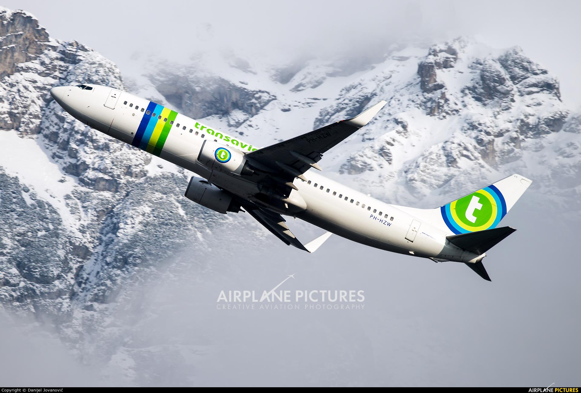 Transavia PH-HZW aircraft at Innsbruck