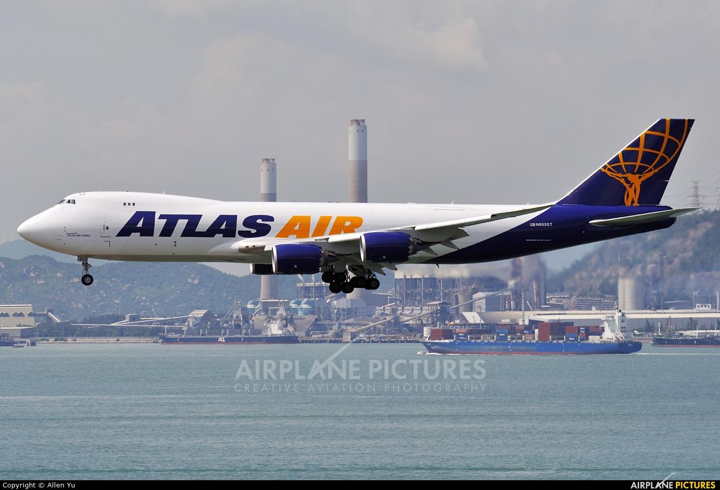 Atlas Air N852GT aircraft at HKG - Chek Lap Kok Intl