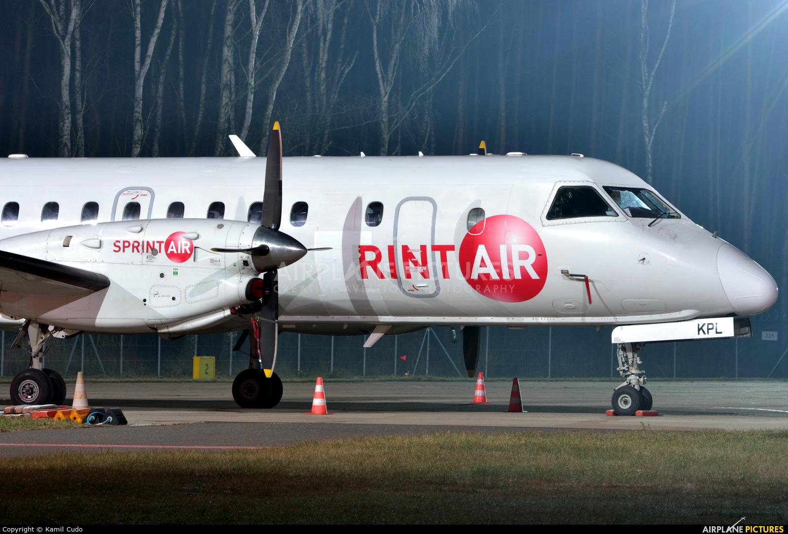 Sprint Air SP-KPL aircraft at Babimost