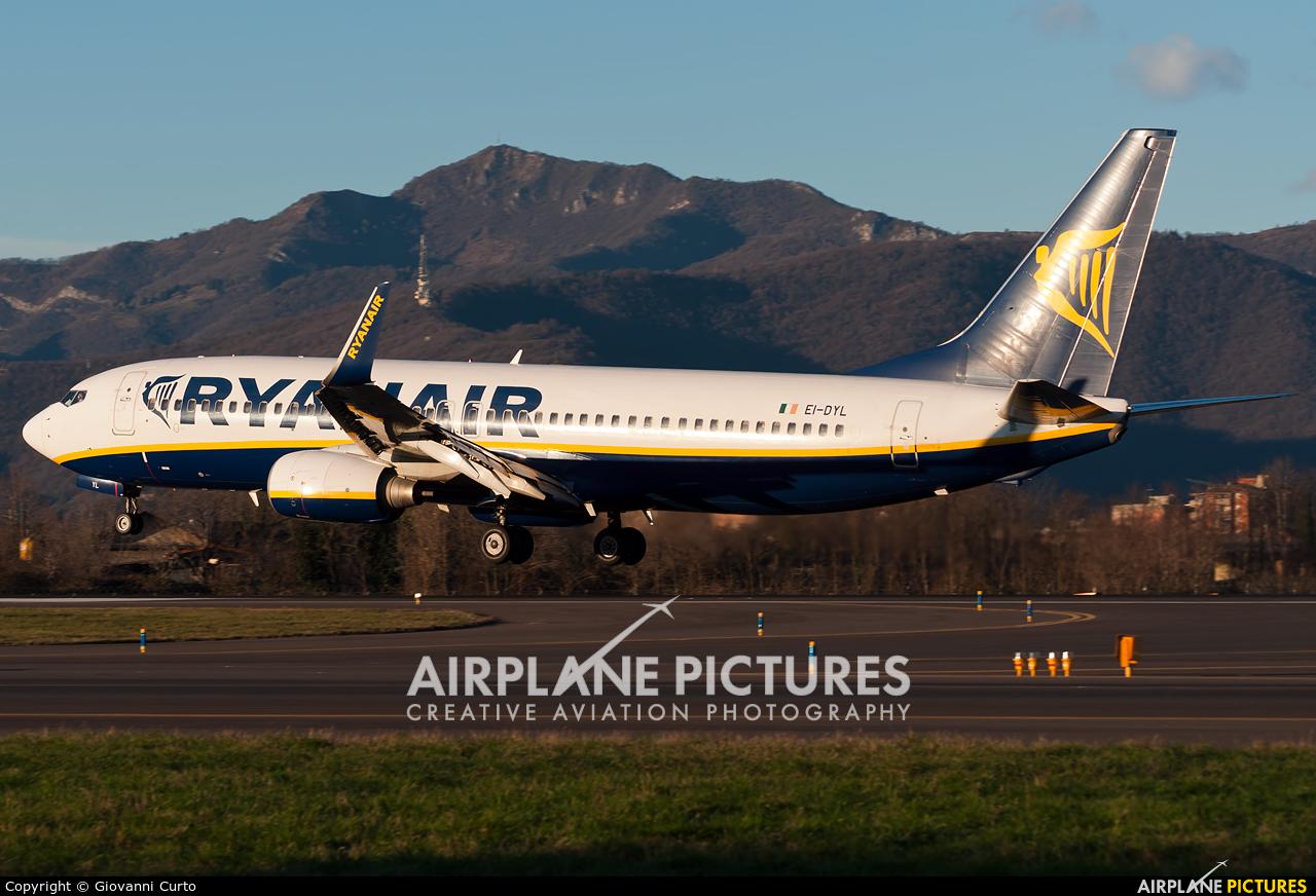 Ryanair EI-DYL aircraft at Bergamo - Orio al Serio