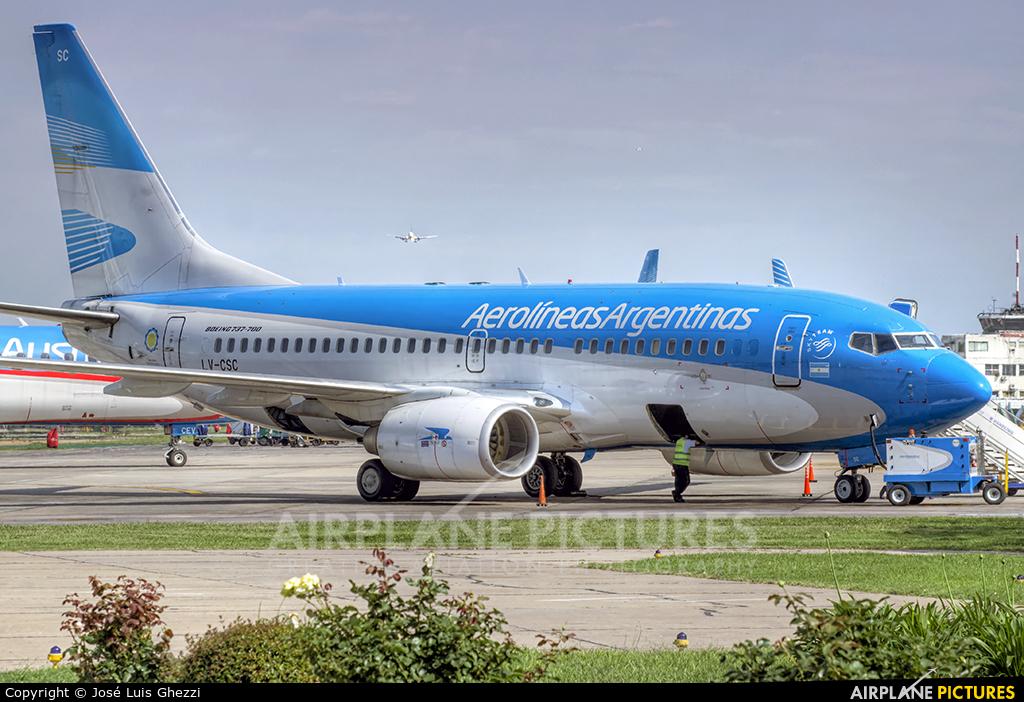 Aerolineas Argentinas LV-CSC aircraft at Buenos Aires - Jorge Newbery