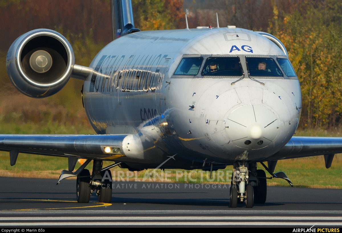 Adria Airways S5-AAG aircraft at Ljubljana - Brnik