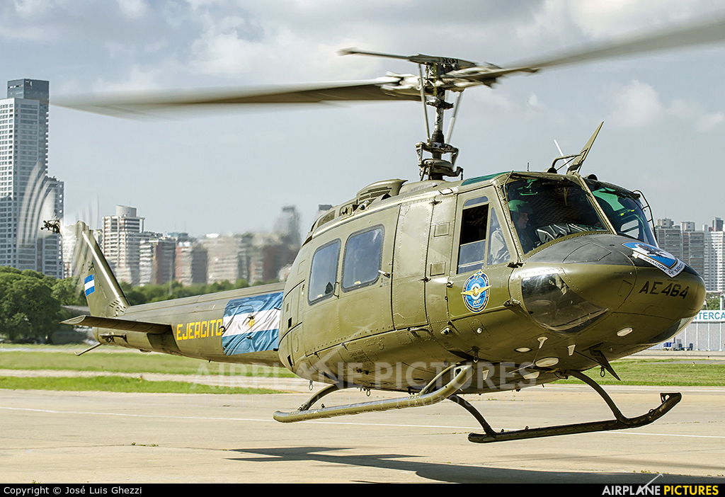 Argentina - Army AE-464 aircraft at Buenos Aires - Jorge Newbery