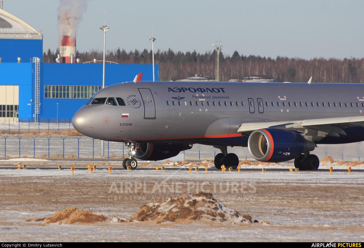 Aeroflot VQ-BSJ aircraft at Minsk Intl