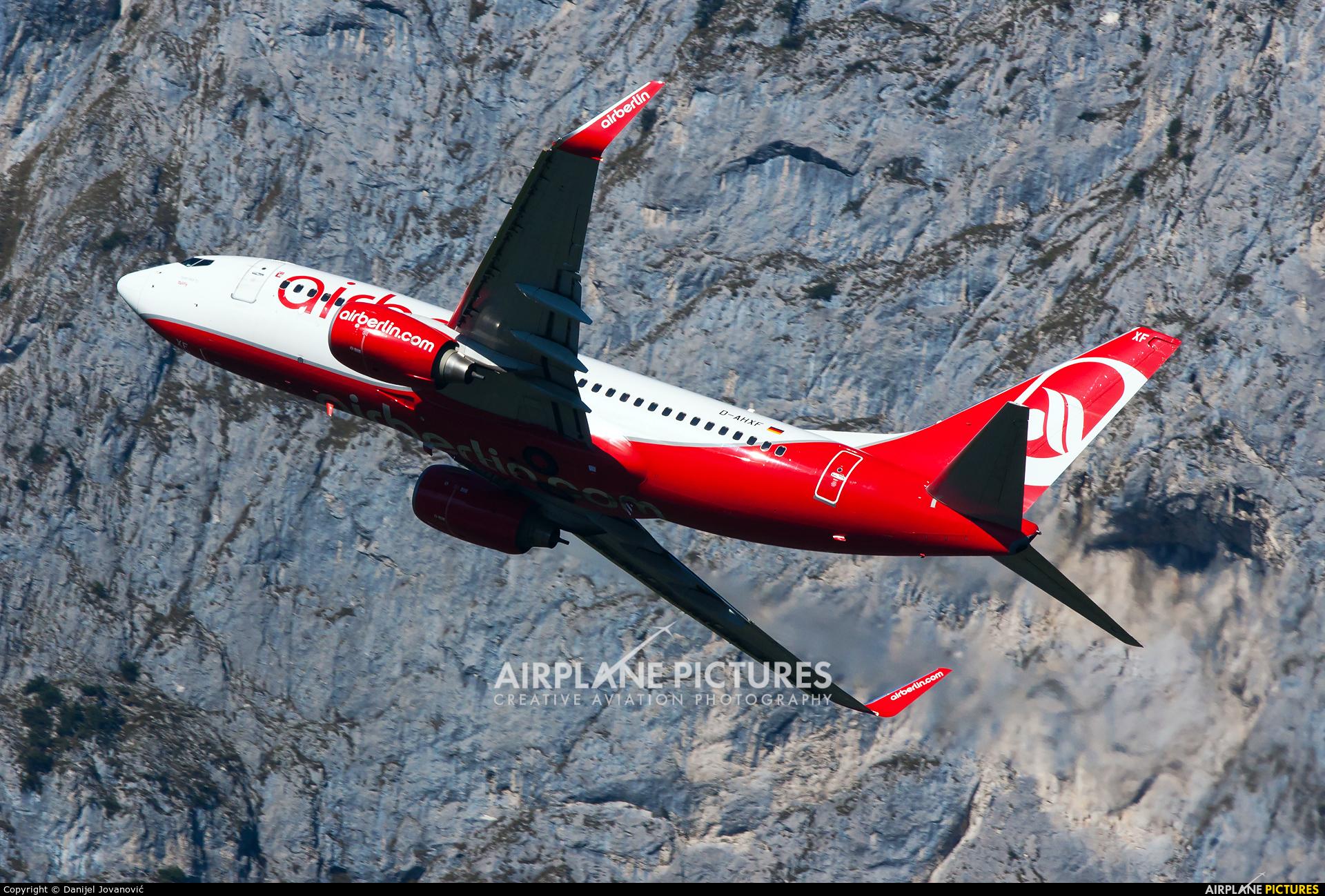 Air Berlin D-AHXF aircraft at Innsbruck