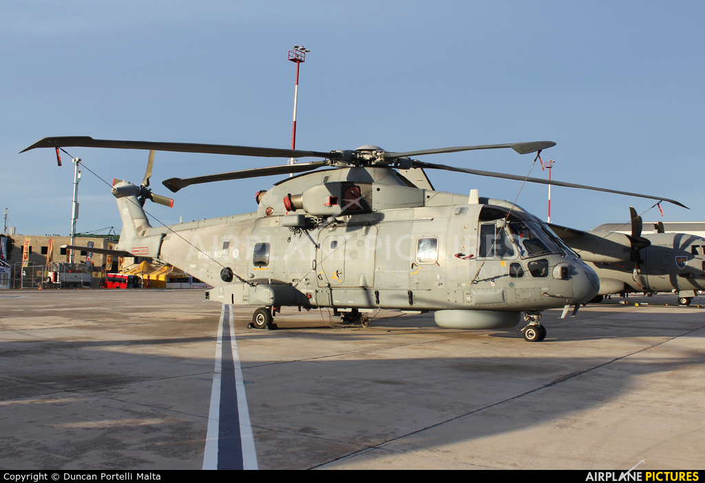 Royal Navy ZH857 aircraft at Malta Intl
