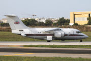 Royal Air Force BAe 146 in Malta Intl title=
