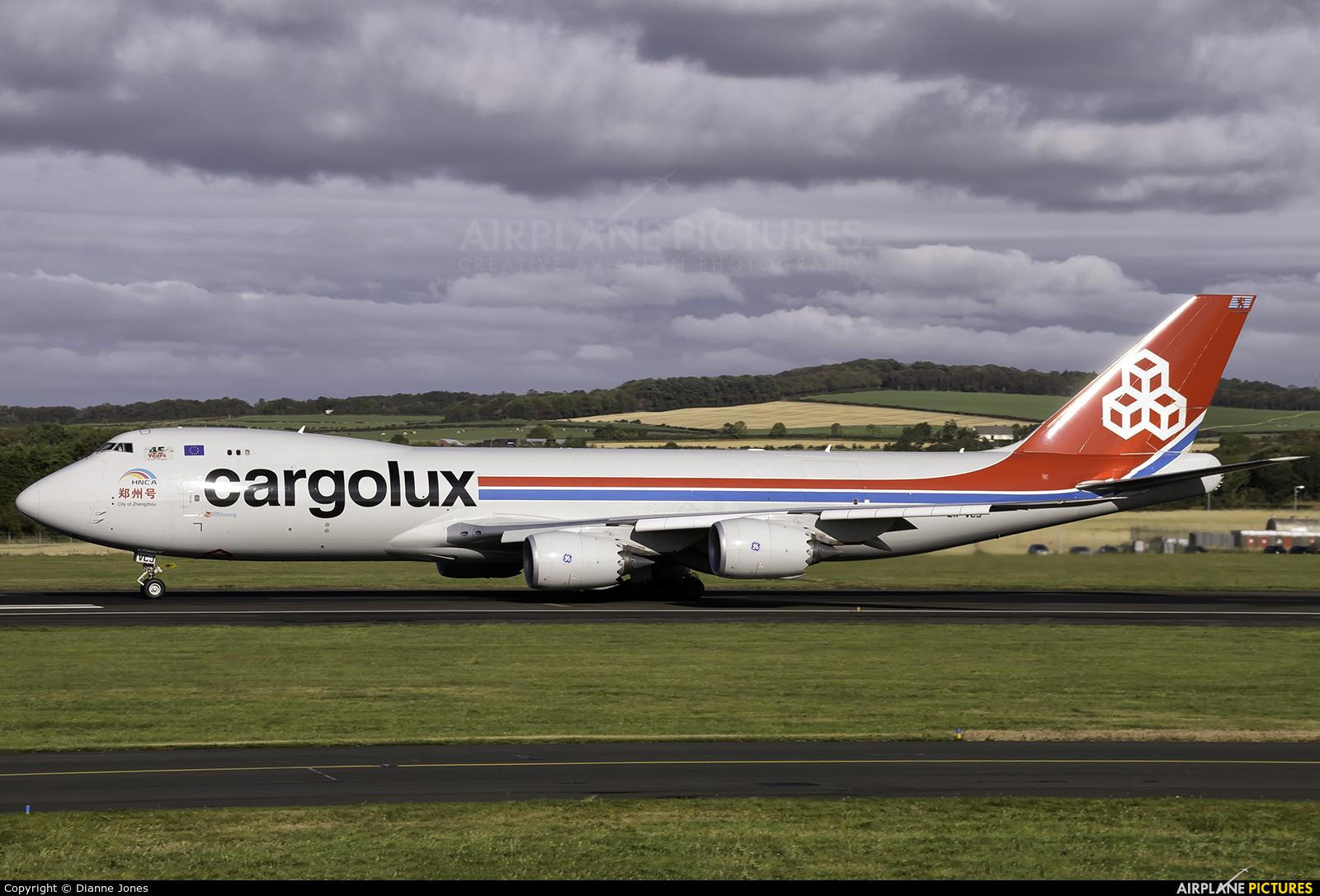 Cargolux LX-VCJ aircraft at Prestwick