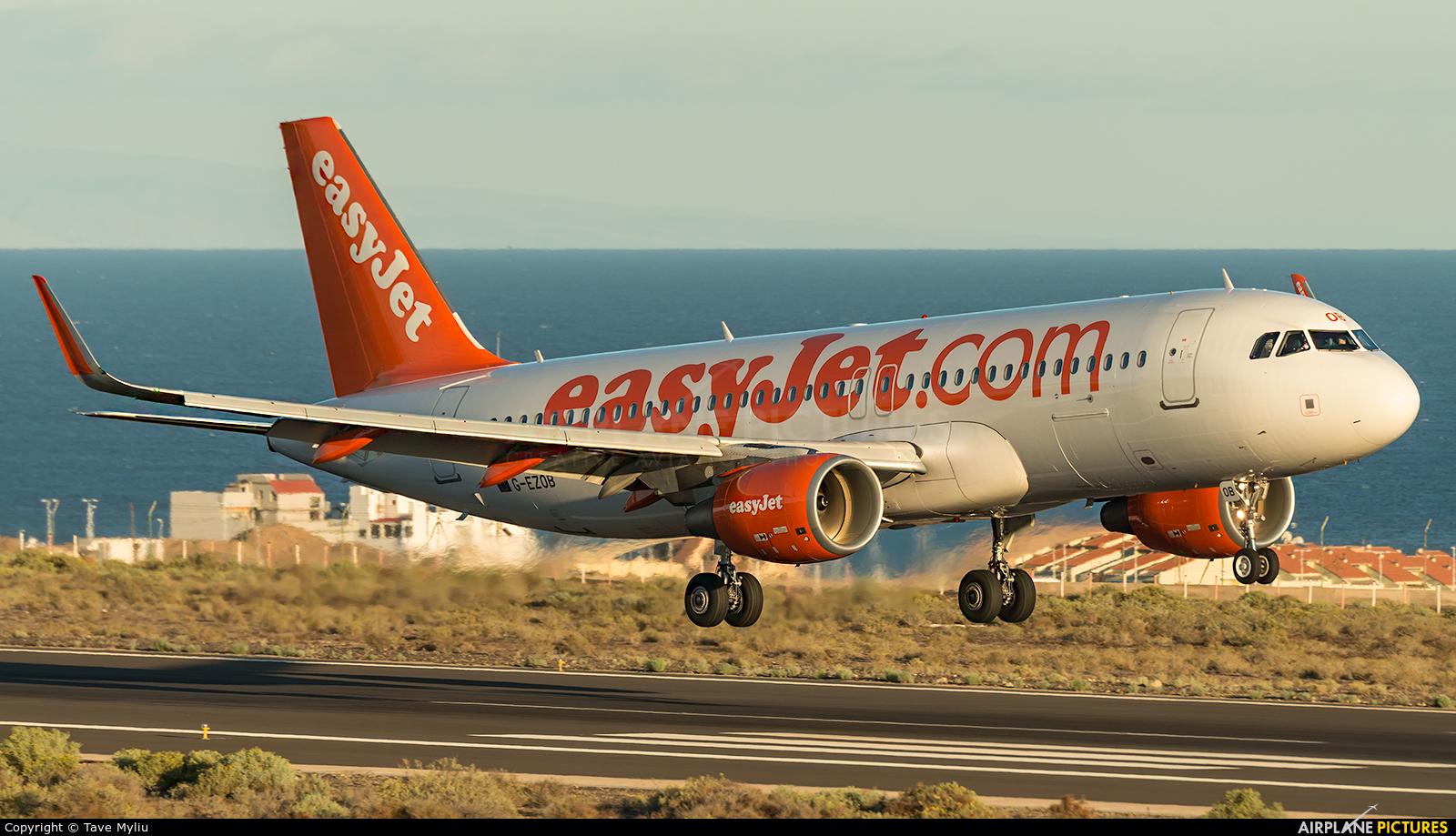 easyJet G-EZOB aircraft at Tenerife Sur - Reina Sofia