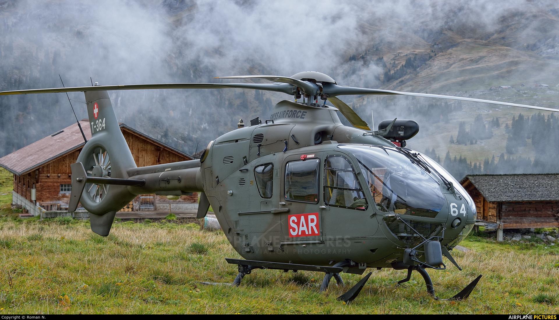 Switzerland - Air Force T-364 aircraft at Axalp - Ebenfluh Range
