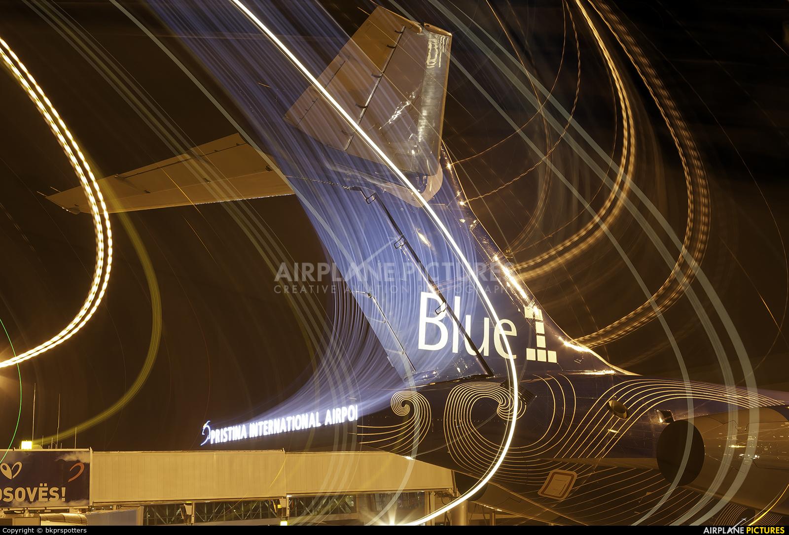 Blue1 OH-BLQ aircraft at Pristina Intl