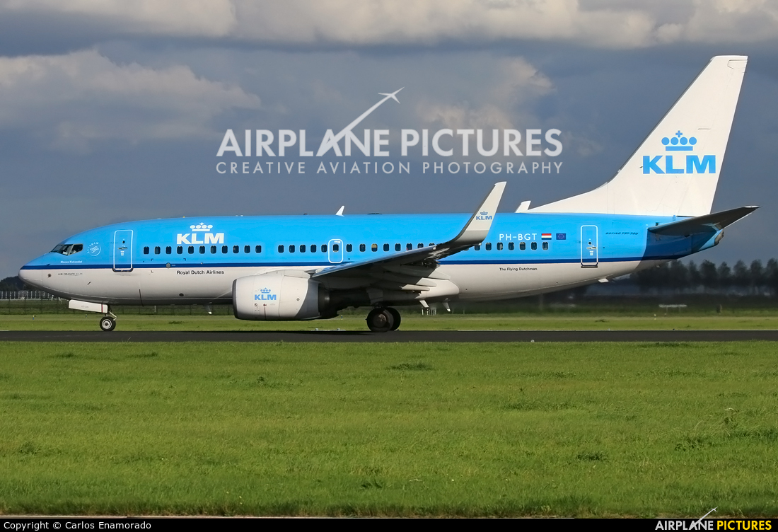 KLM Boeing 737-700 At Amsterdam