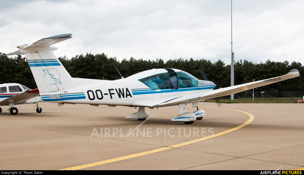 Private OO-FWA aircraft at Eindhoven