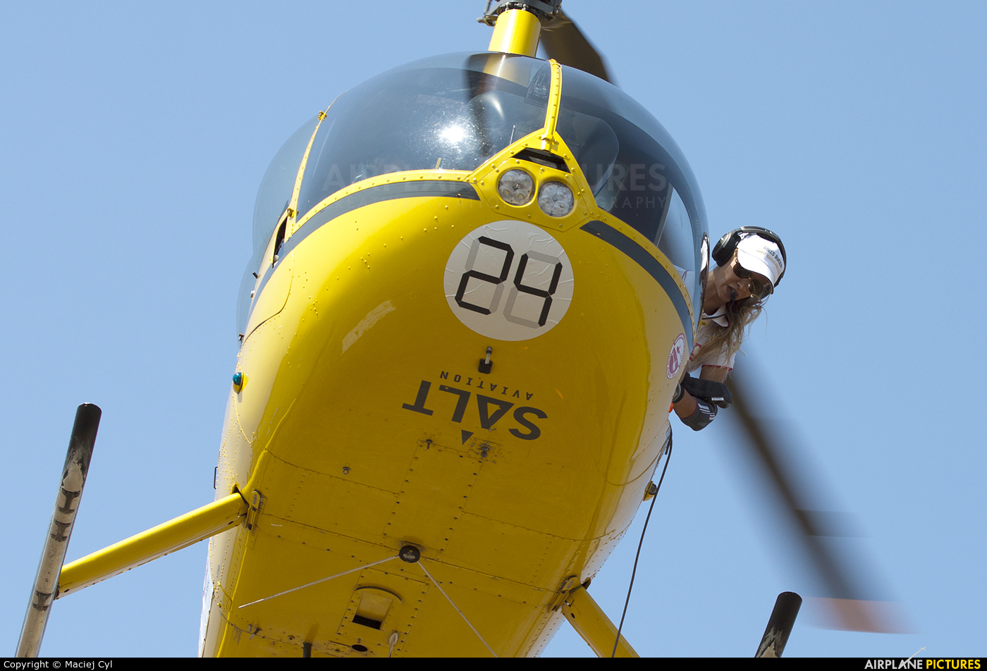Salt Aviation SP-SVV aircraft at Zielona Góra - Przylep