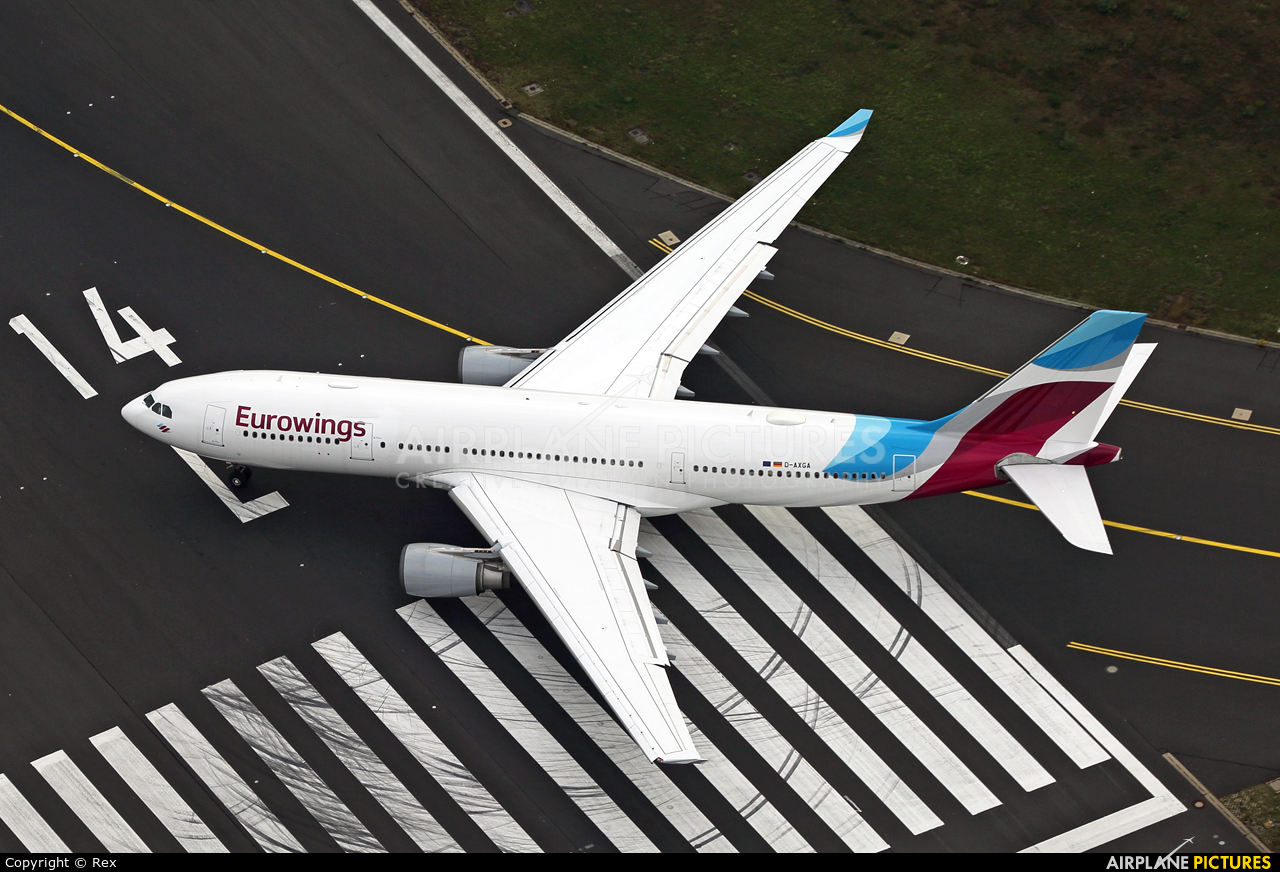 Eurowings D-AXGA aircraft at Cologne Bonn - Konrad Adenauer