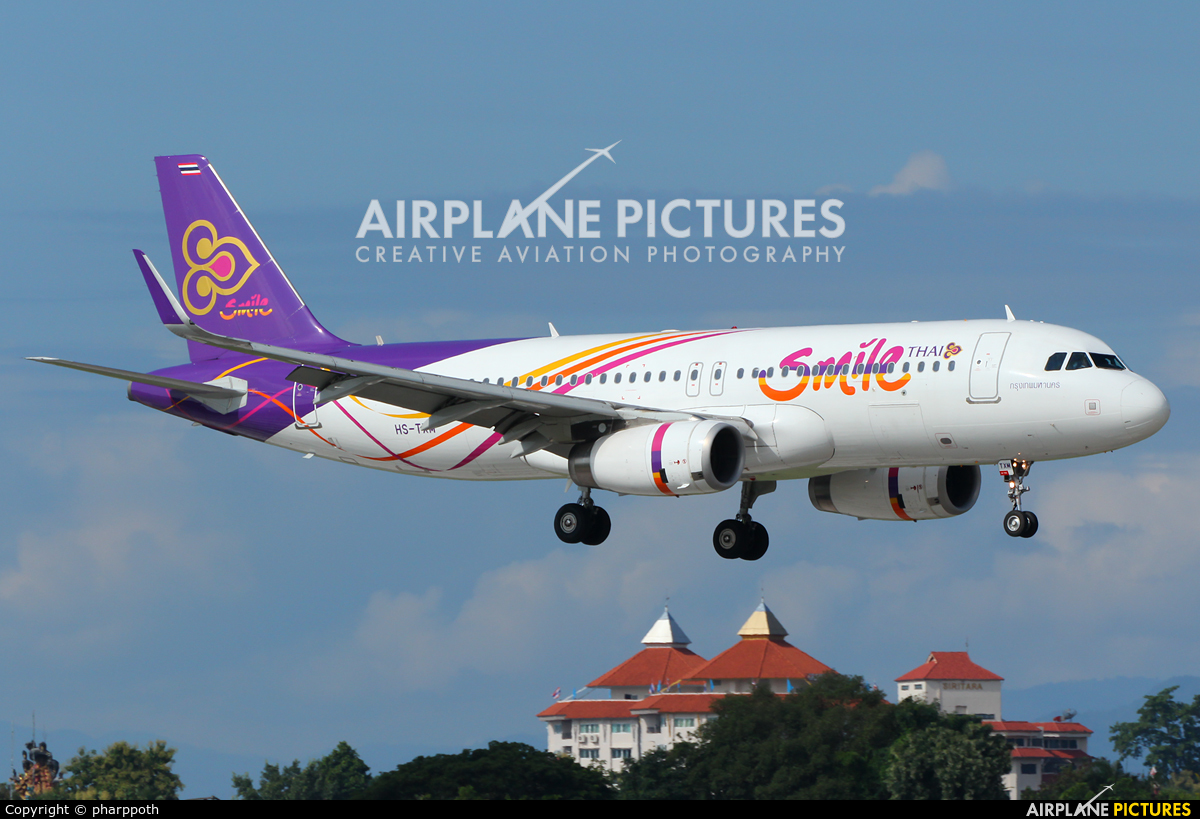 Thai Smile HS-TXM aircraft at Chiang-Mai