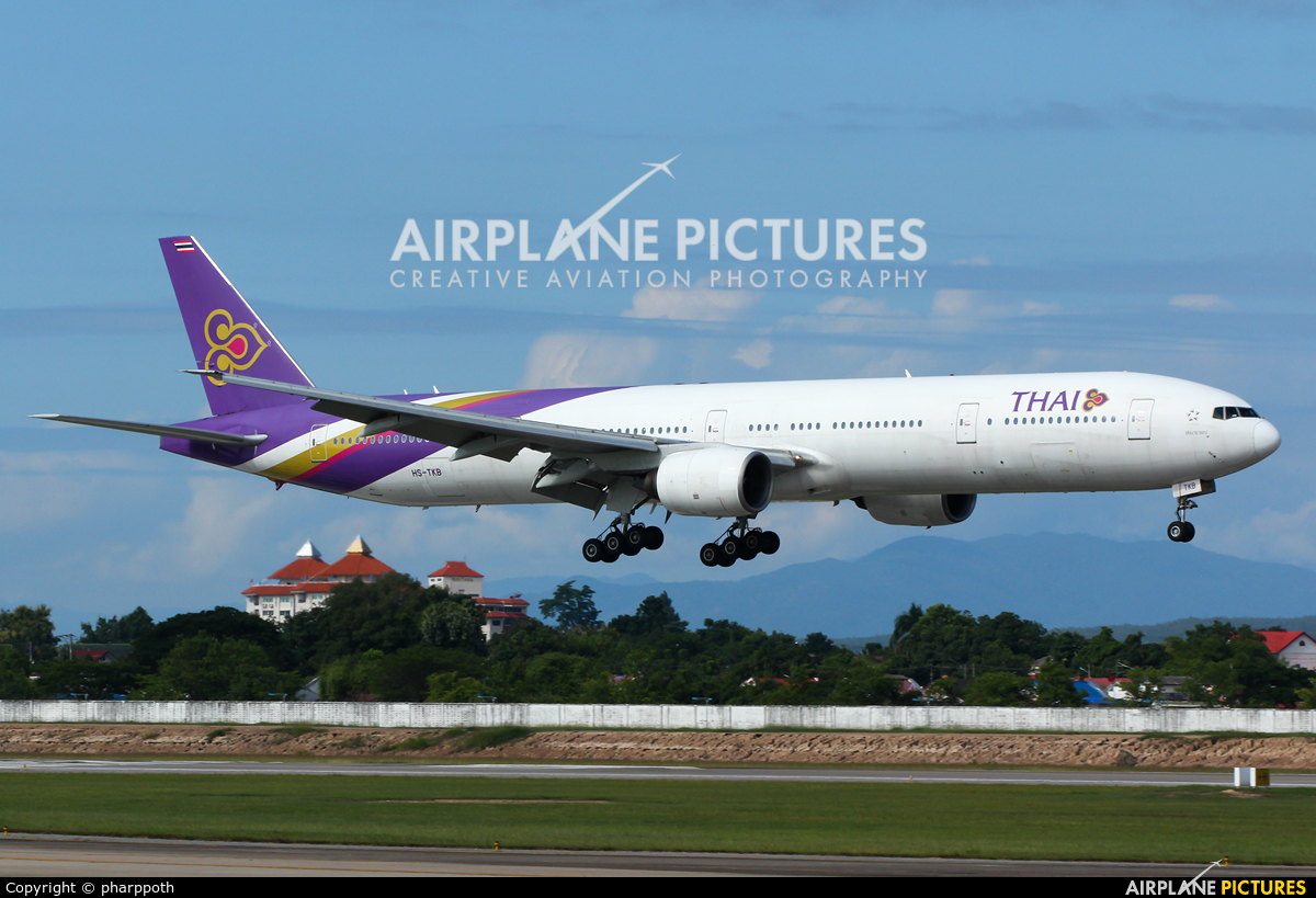 Thai Airways HS-TKB aircraft at Chiang-Mai