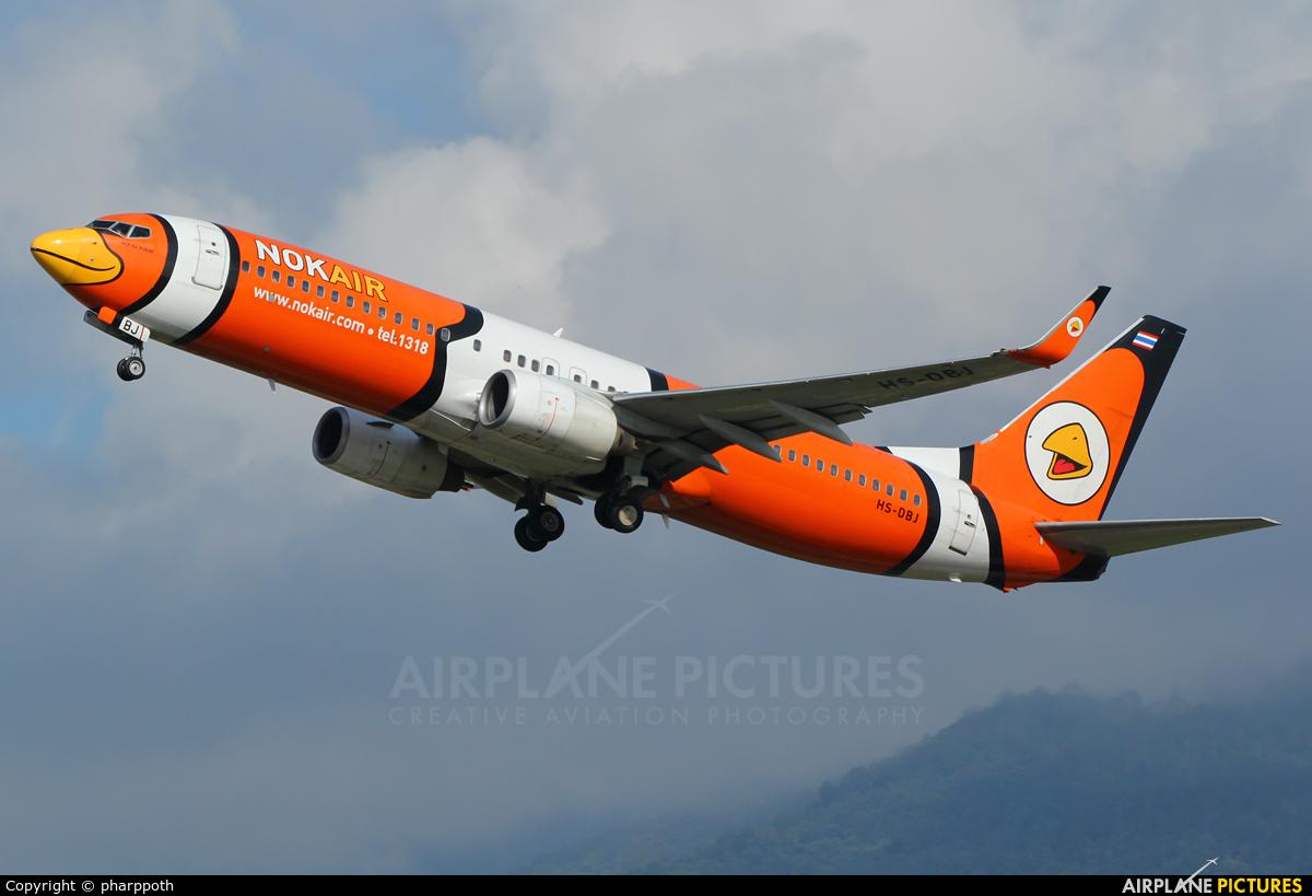 Nok Air HS-DBJ aircraft at Chiang-Mai