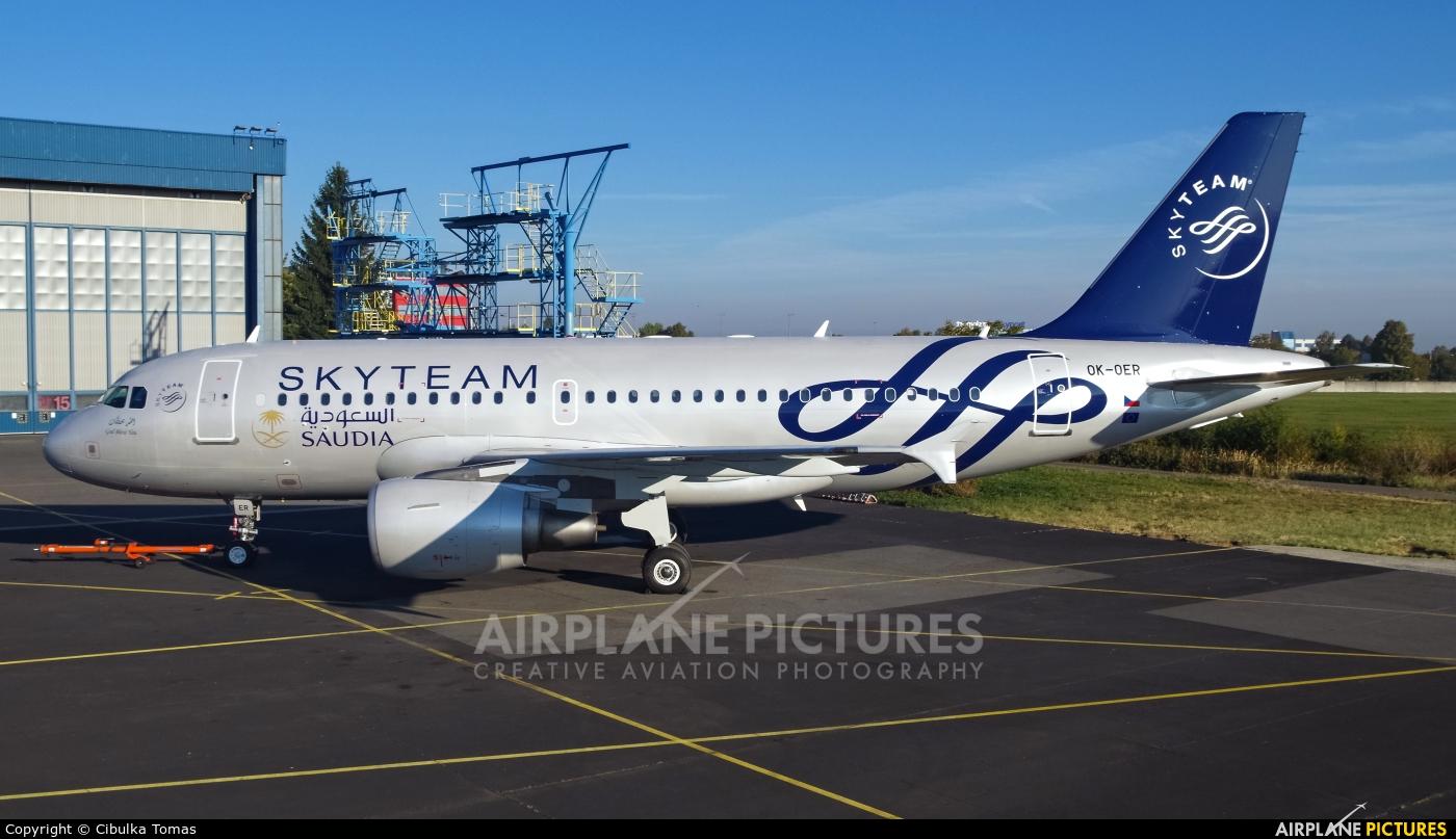 Saudi Arabian Airlines OK-OER aircraft at Prague - Václav Havel