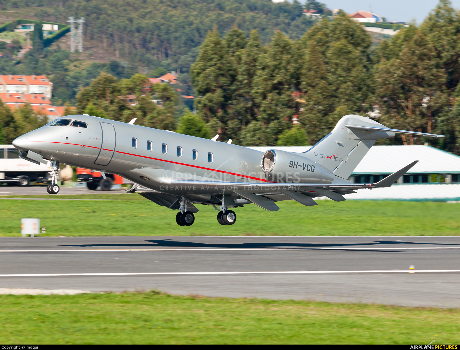 Vistajet 9H-VCG aircraft at La Coruña