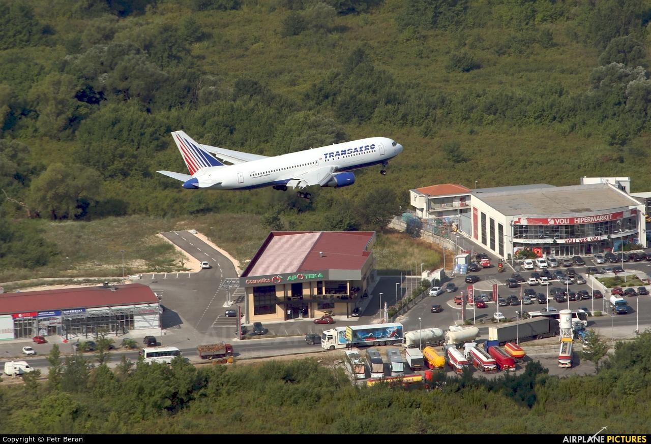 Transaero Airlines EI-CXZ aircraft at Tivat