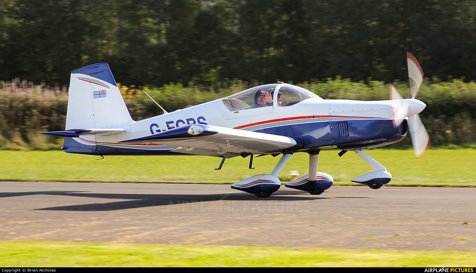 Private G-EGBS aircraft at Welshpool