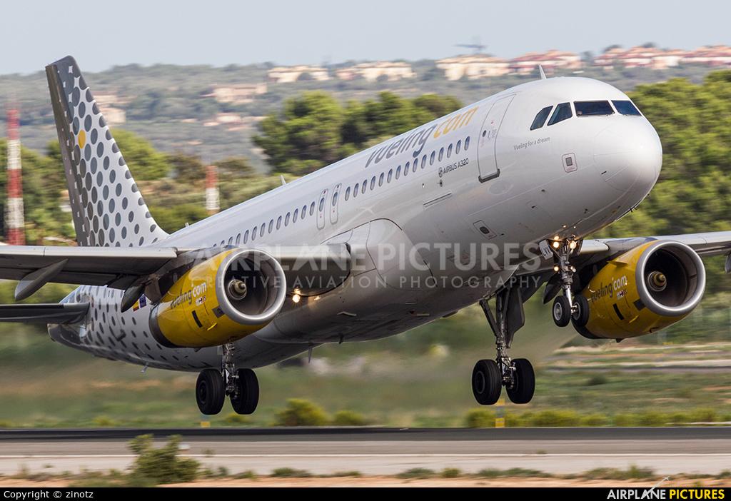 Vueling Airlines EC-LVV aircraft at Palma de Mallorca