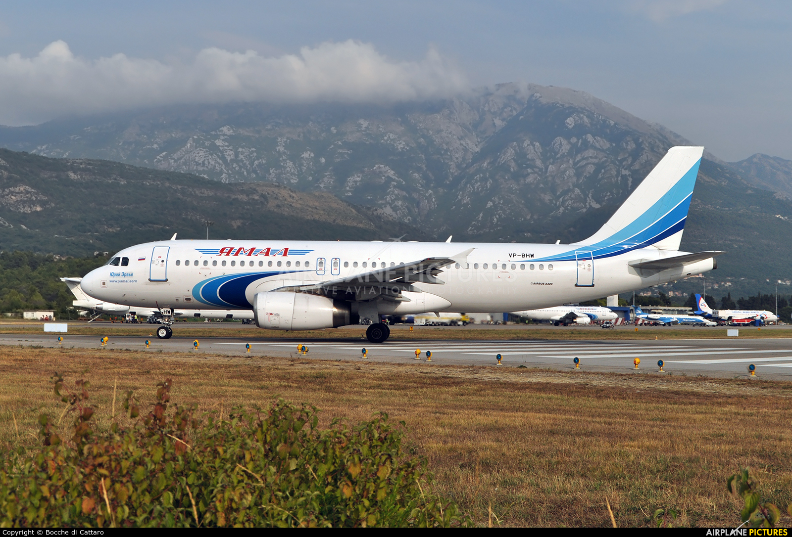 Yamal Airlines VP-BHW aircraft at Tivat