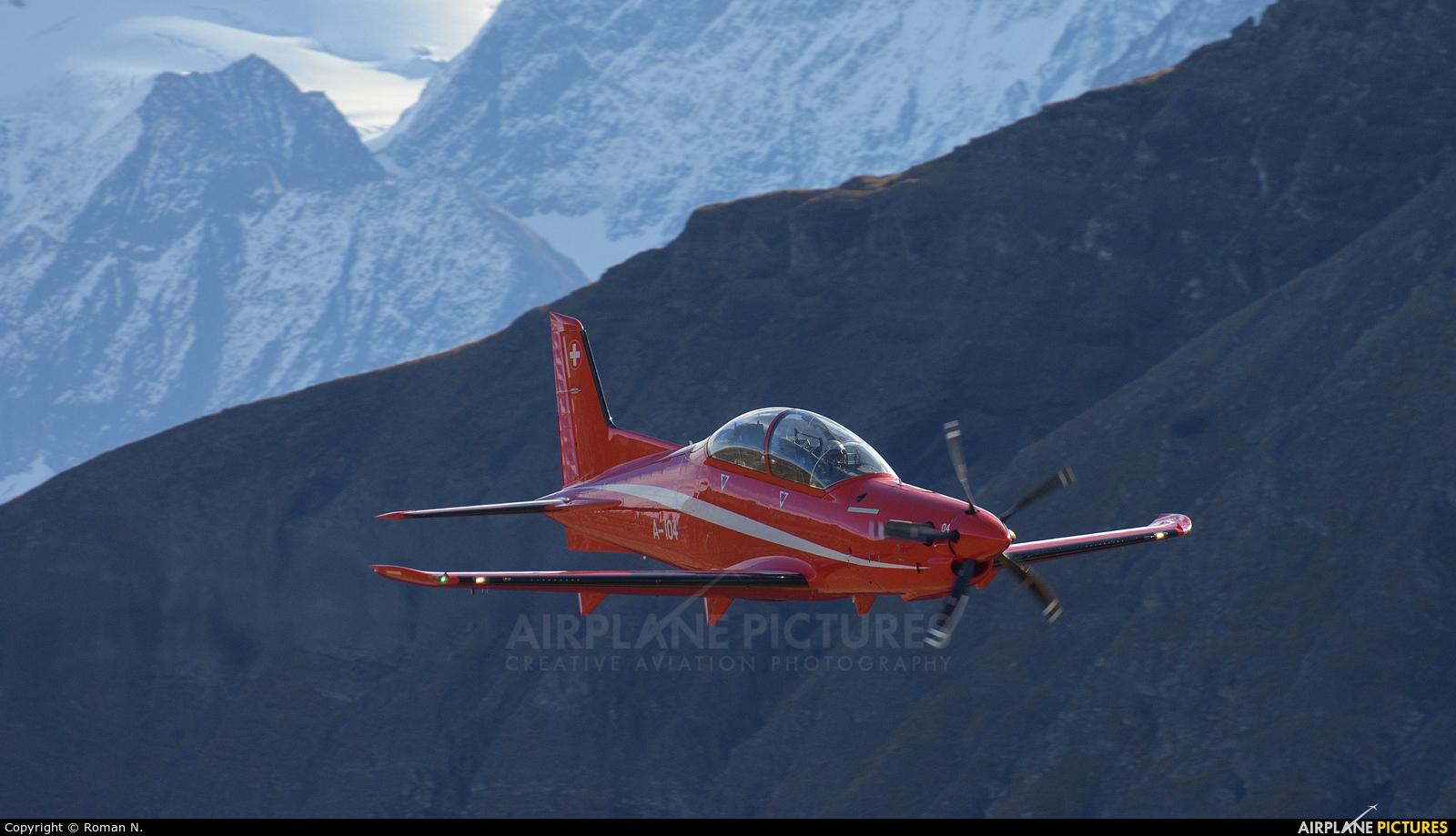 Switzerland - Air Force A-104 aircraft at Axalp - Ebenfluh Range