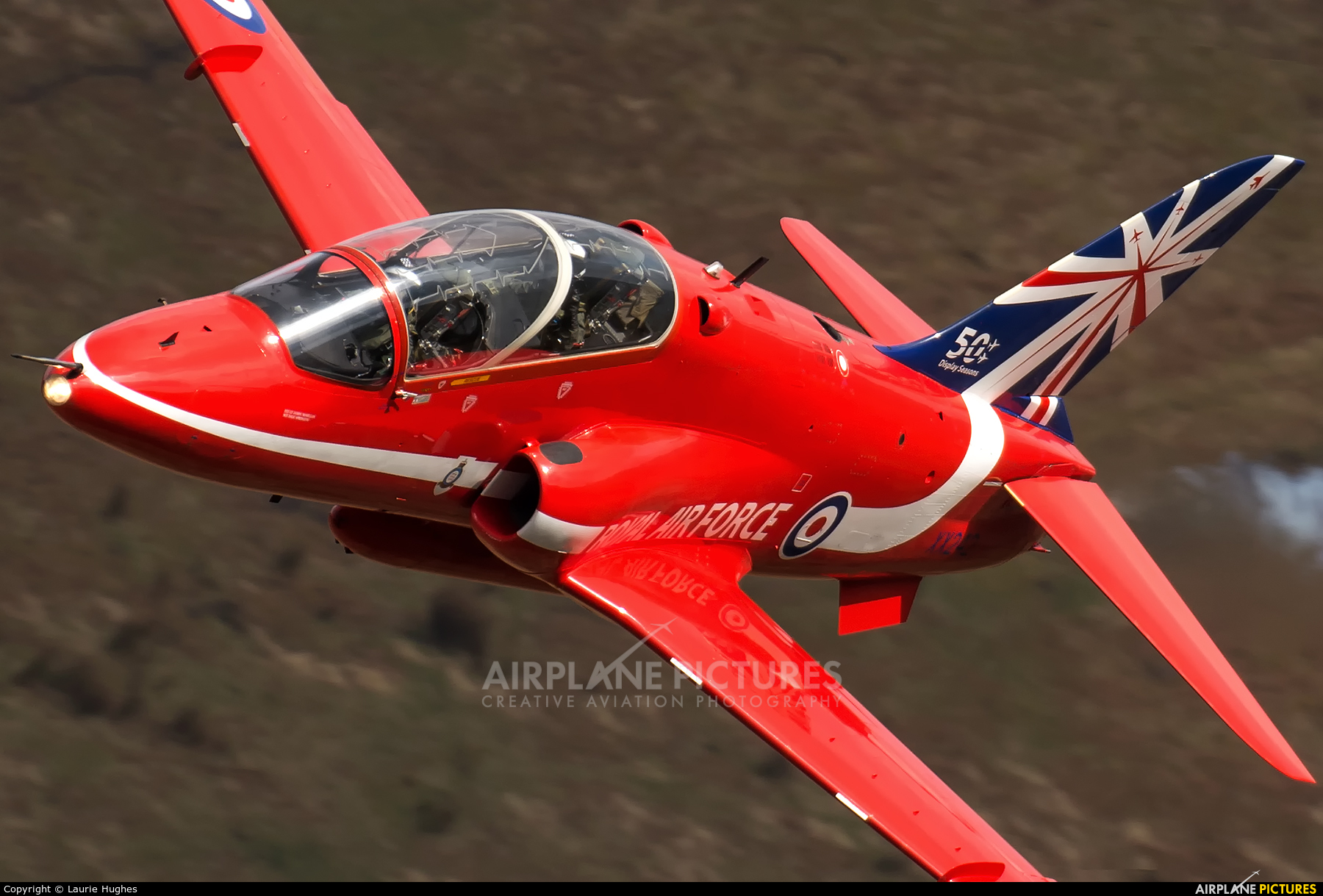 "Royal Air Force ""Red Arrows"" XX242 aircraft at Machynlleth Loop - LFA 7"