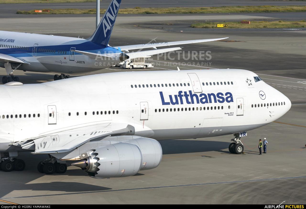 Lufthansa D-ABYR aircraft at Tokyo - Haneda Intl