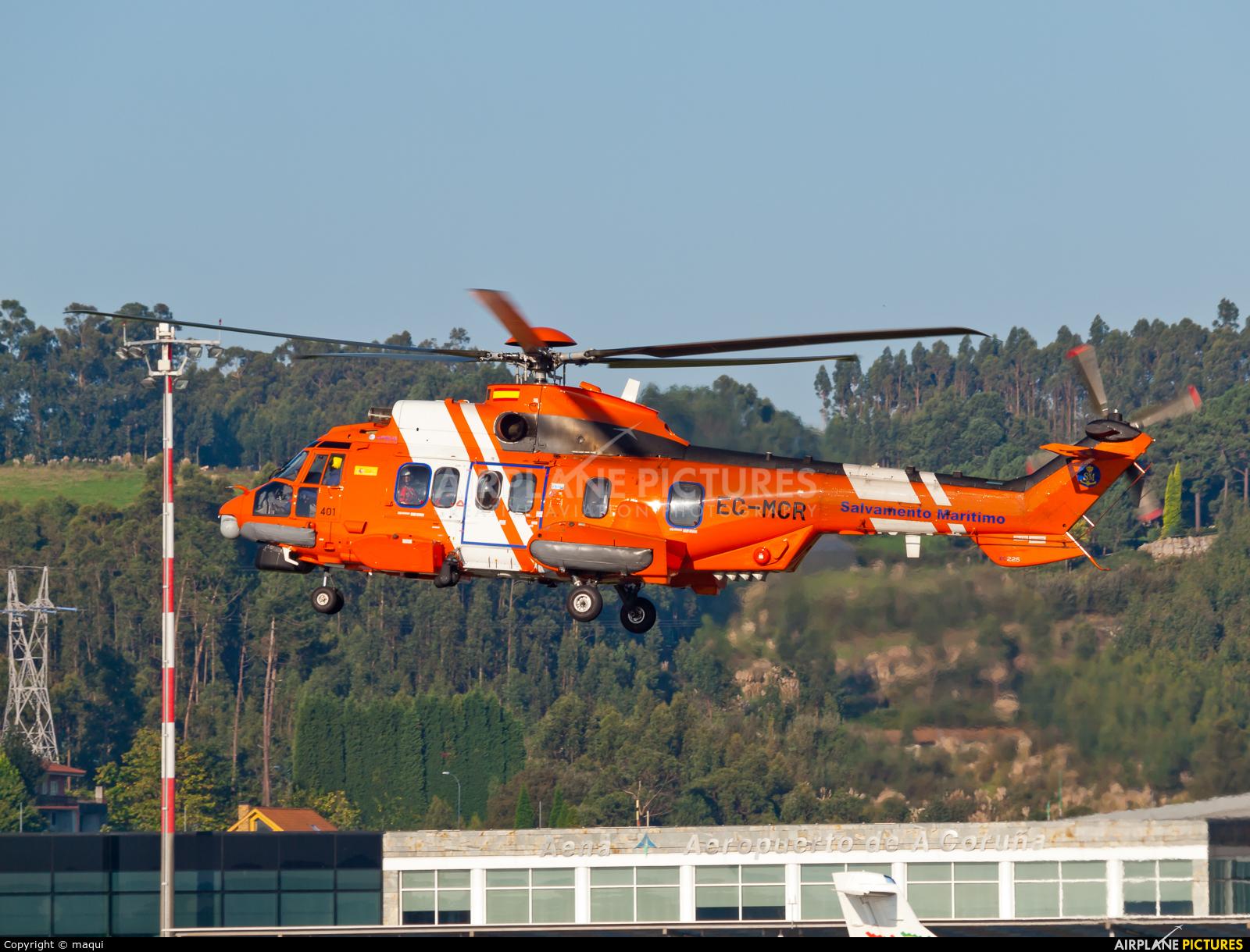 Spain - Coast Guard EC-MCR aircraft at La Coruña