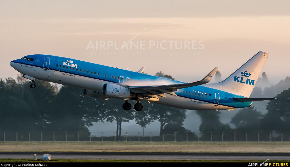 KLM PH-BXV aircraft at Munich