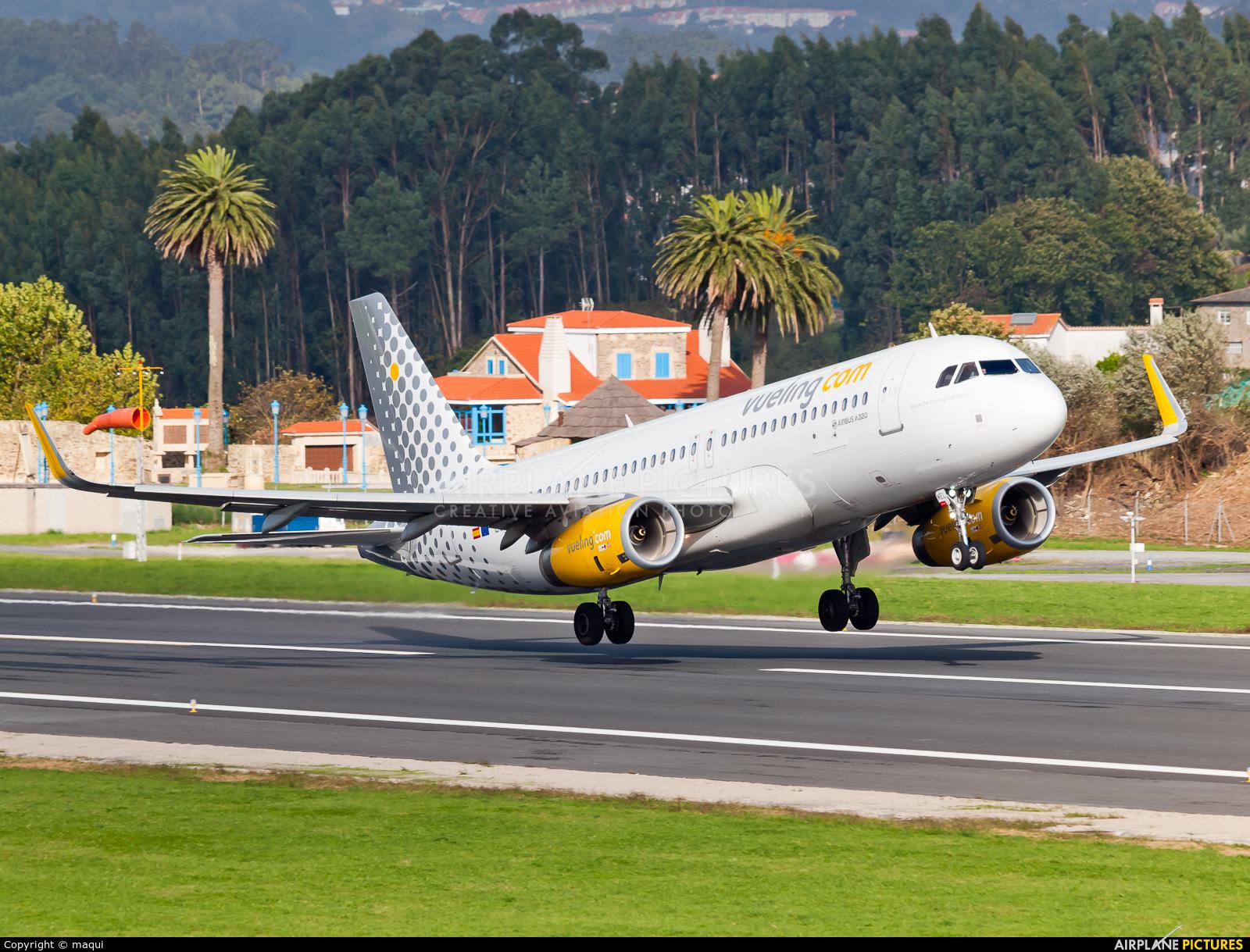 Vueling Airlines EC-MEL aircraft at La Coruña