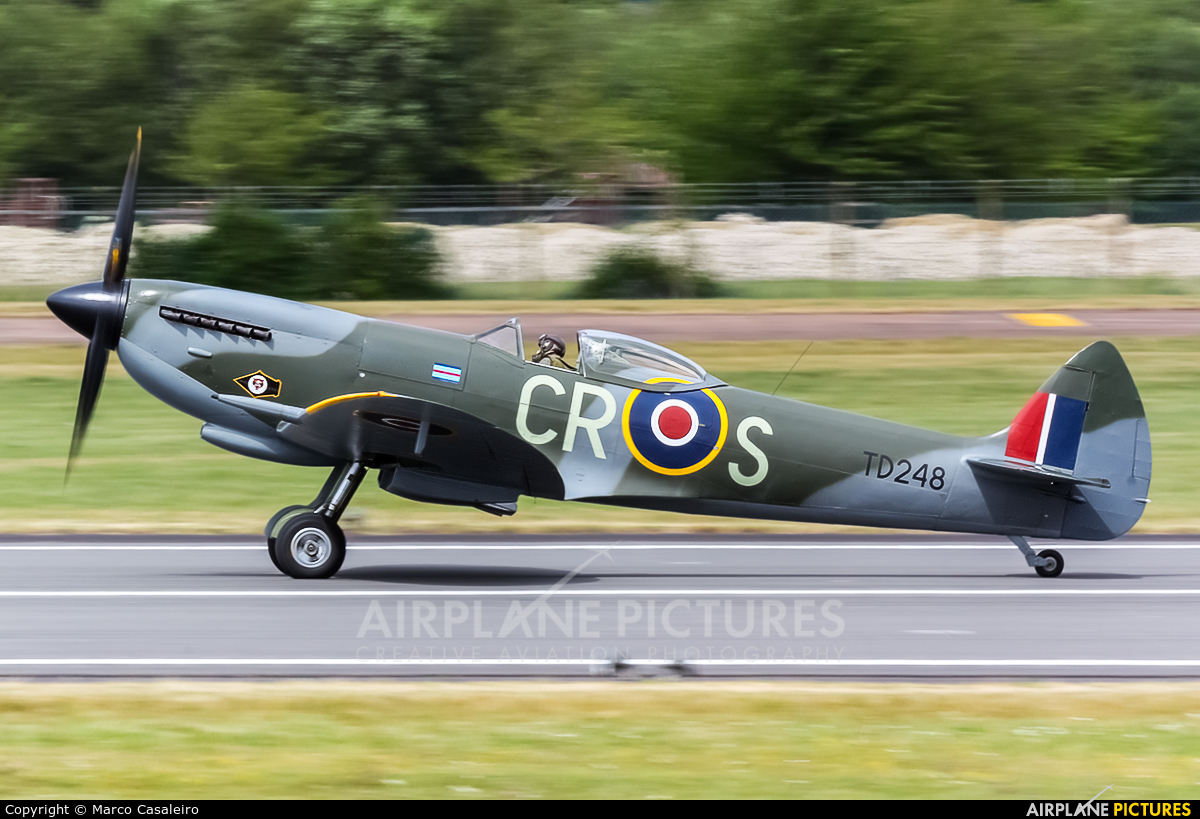 Spitfire G-OXVI aircraft at Fairford