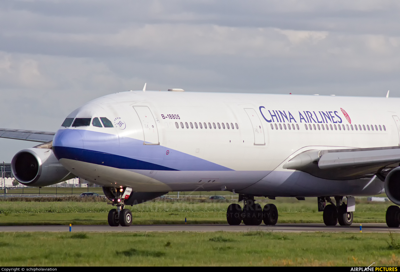 China Airlines B-18805 aircraft at Amsterdam - Schiphol