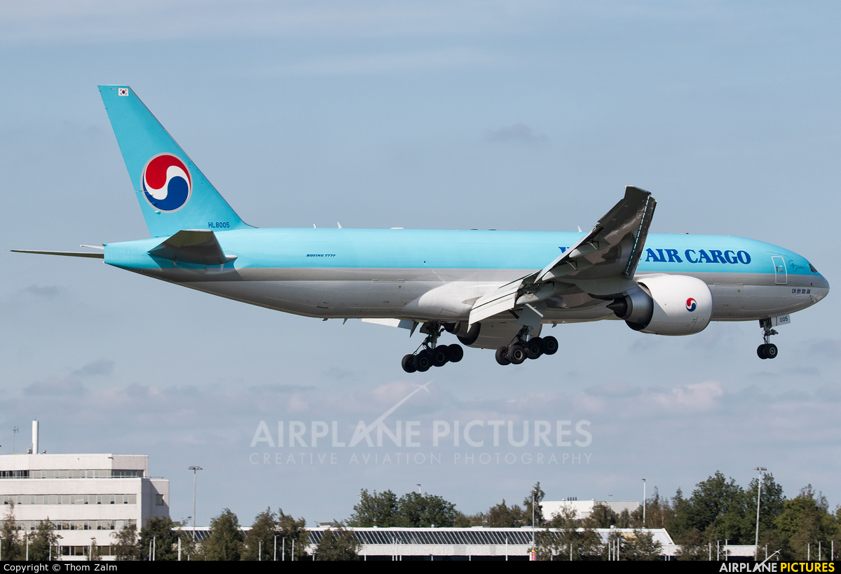 Korean Air Cargo HL8005 aircraft at Amsterdam - Schiphol