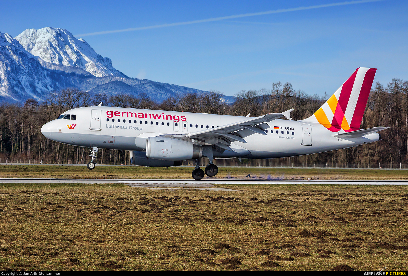 Germanwings D-AGWA aircraft at Salzburg