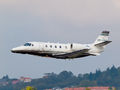Civil Aviation Authority Citation 560XL on ILS calibration task in La Coruña