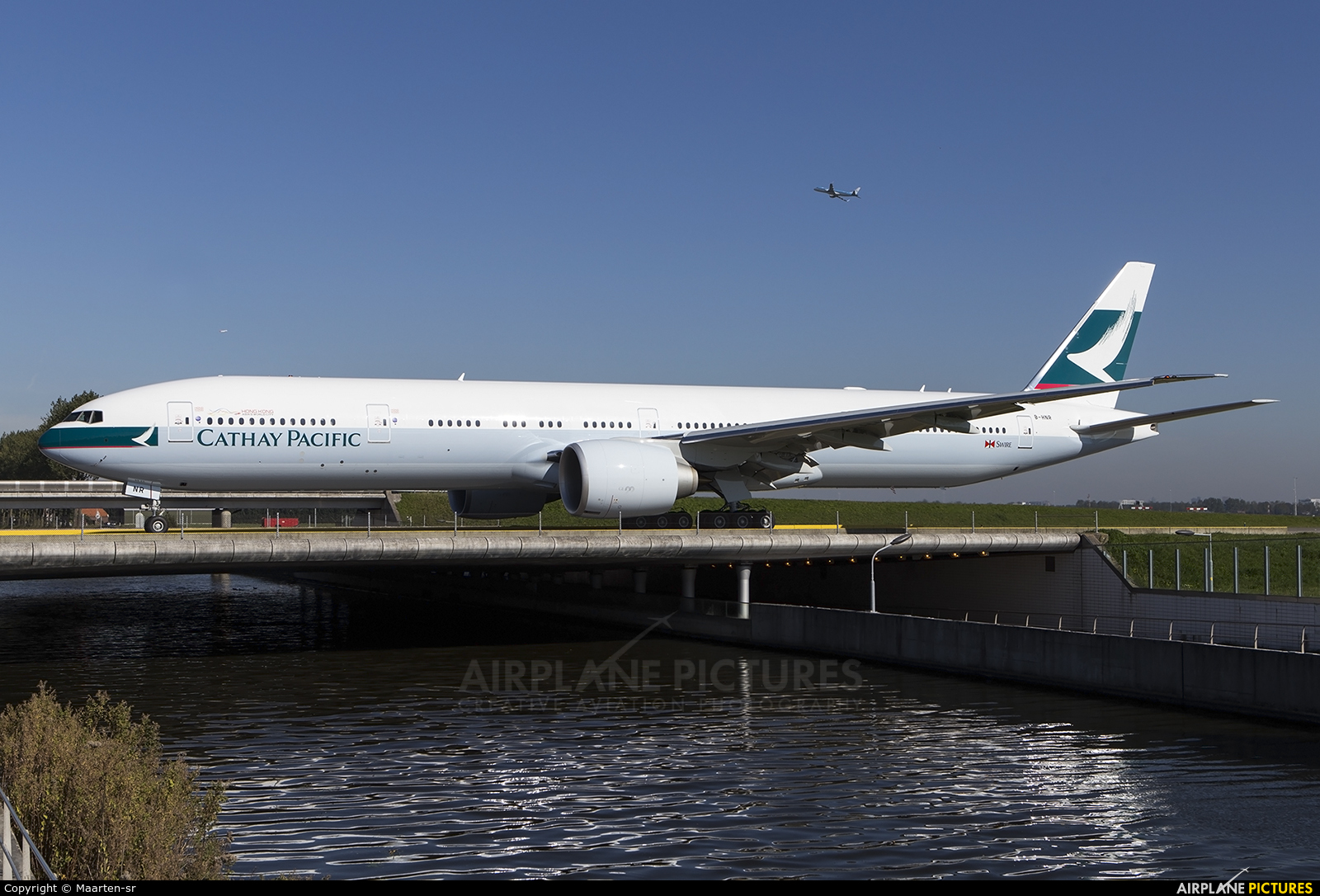 Cathay Pacific B-HNR aircraft at Amsterdam - Schiphol