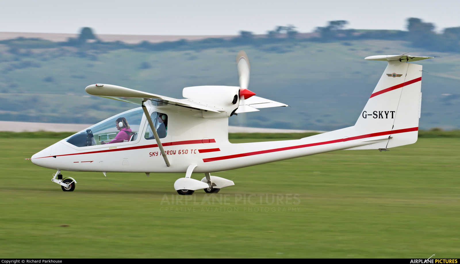 Private G-SKYT aircraft at Old Sarum