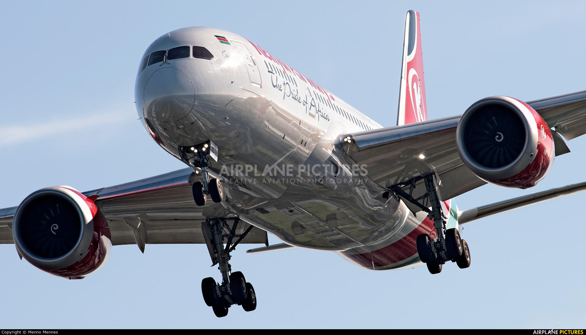 Kenya Airways 5Y-KZF aircraft at Amsterdam - Schiphol