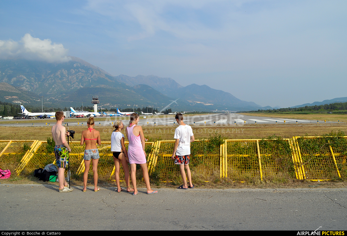 - Airport Overview - aircraft at Tivat