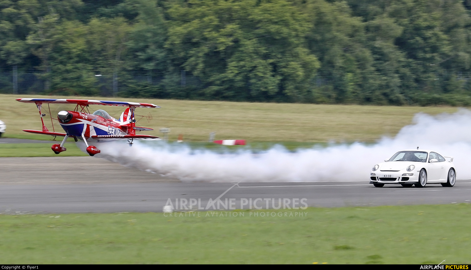 Rich Goodwin Airshows G-EWIZ aircraft at Dunsfold