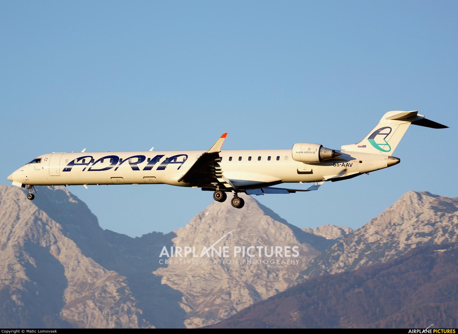 Adria Airways S5-AAV aircraft at Ljubljana - Brnik