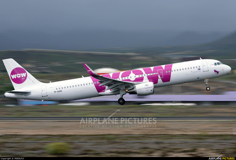WOW Air TF-DAD aircraft at Tenerife Sur - Reina Sofia