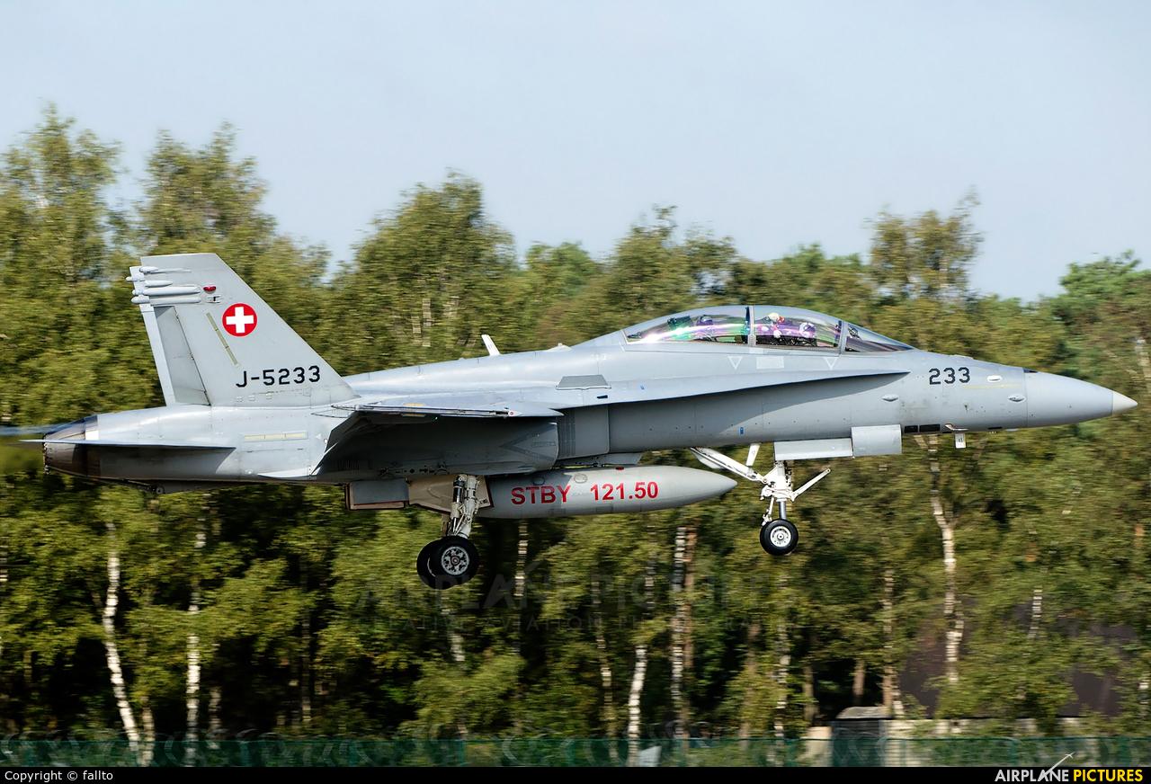 Switzerland - Air Force J-5233 aircraft at Kleine Brogel