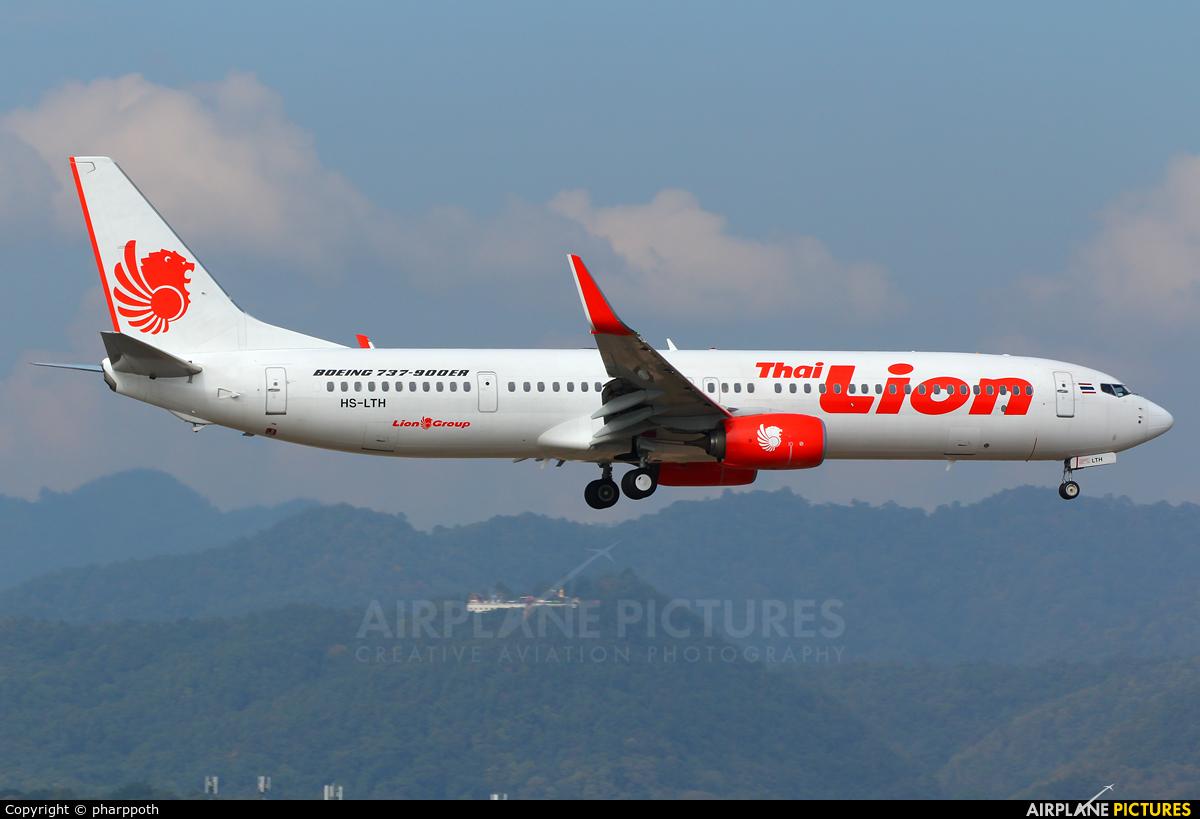 Thai Lion Air HS-LTH aircraft at Chiang-Mai